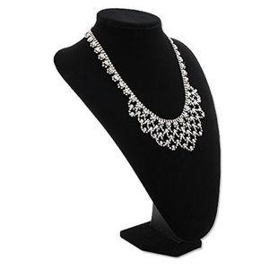 "Jewelry - Black Velvet Necklace Stand - 9"""